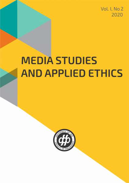 MEDIA STUDIES AND APPLIED ETHICS Vol. I, No 2 (2020)