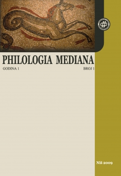 PHILOLOGIA MEDIANA 1 (2009)