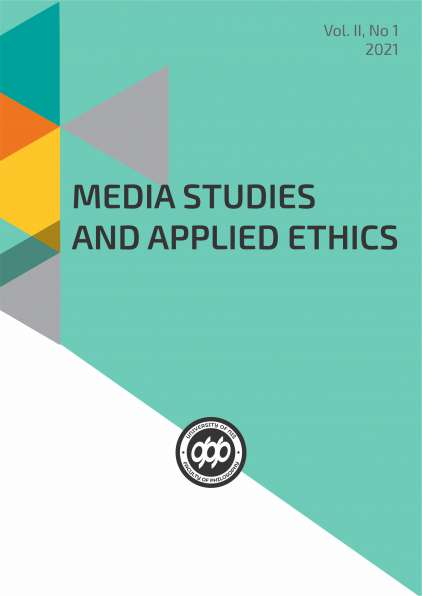 MEDIA STUDIES AND APPLIED ETHICS Vol. II, No 1 (2021)