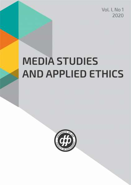 MEDIA STUDIES AND APPLIED ETHICS Vol. I, No 1